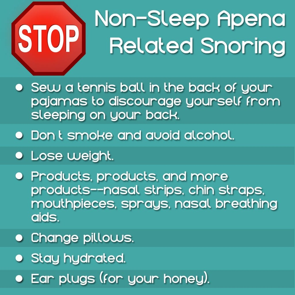 Not all snorers have sleep apnea. Here's some information for those who don't.