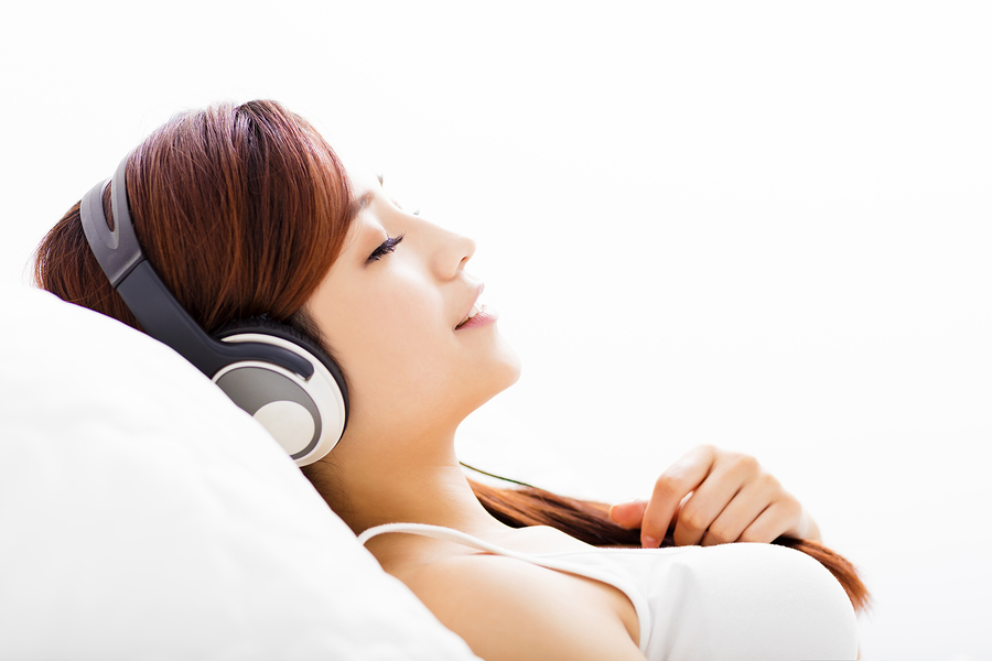 Relax with music.